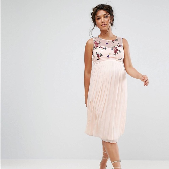 7cd2e4d8c6e37 ASOS Maternity Dresses | Little Mistress Maternity Floral Skater ...